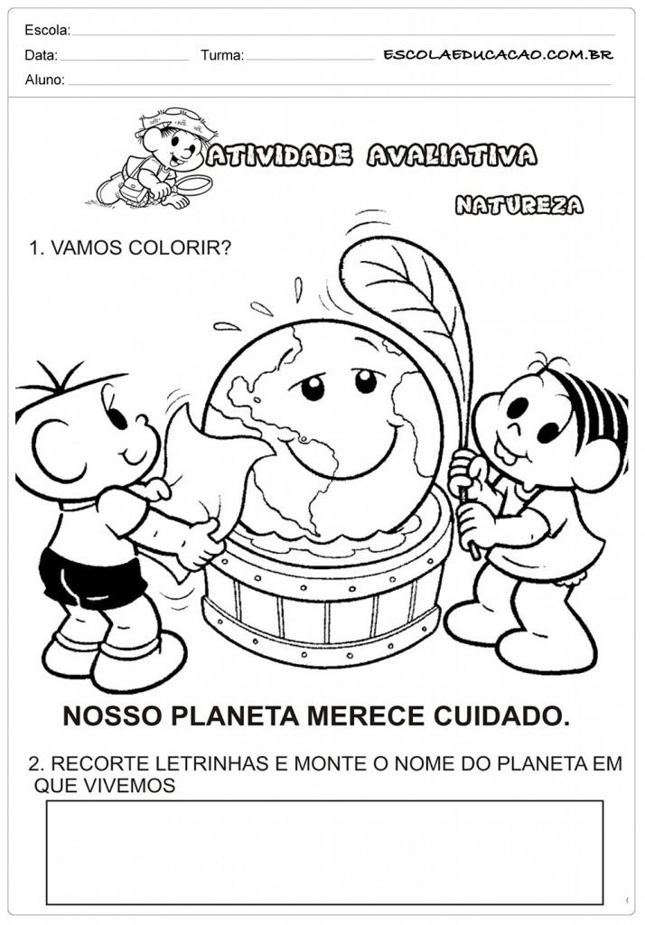 Atividades sobre meio ambiente para educação infantil – Vamos colorir