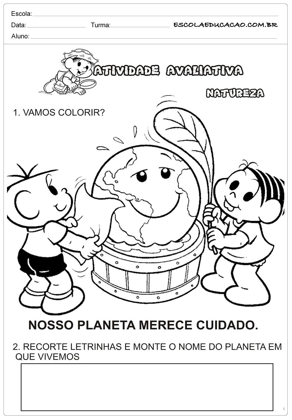Atividades Meio Ambiente Educacao Infantil Vamos Colorir