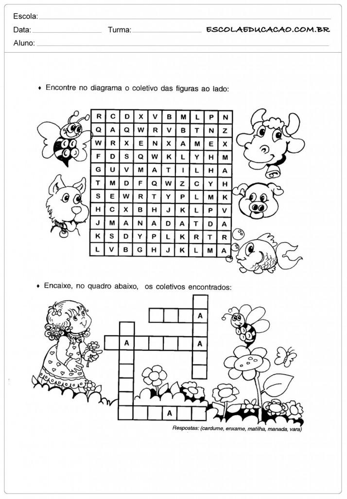 Atividades sobre Coletivos - Diagrama
