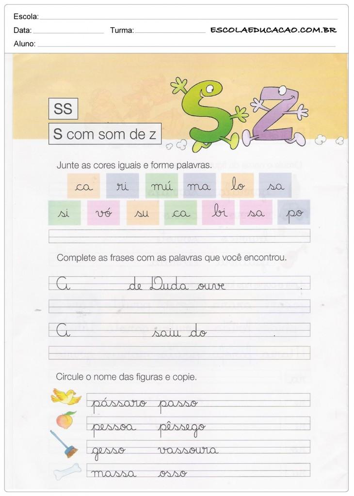Caderno de Caligrafia - SS