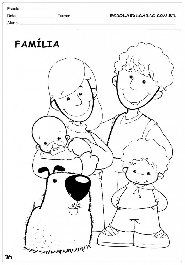 Atividades Sobre A Familia Para Imprimir Educacao