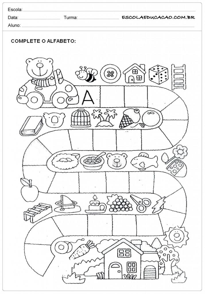 Muitas vezes Atividades com Ordem Alfabética - Para Imprimir - Educação JU31