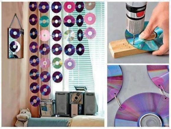 Cortina de CD e DVD