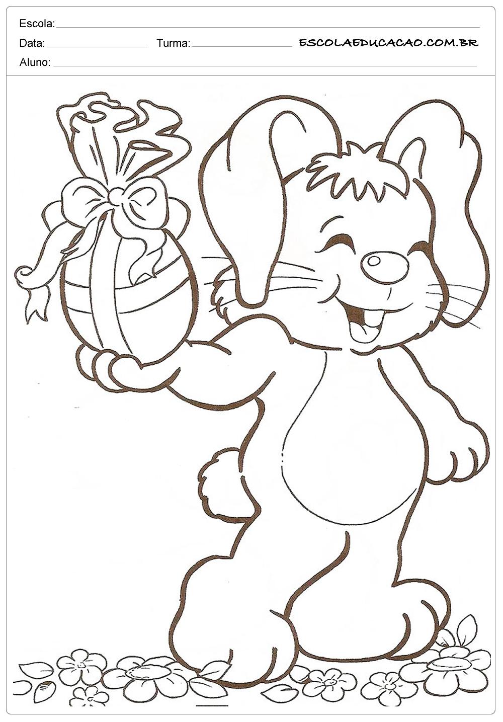Desenhos da Páscoa para Colorir – Coelho da Páscoa