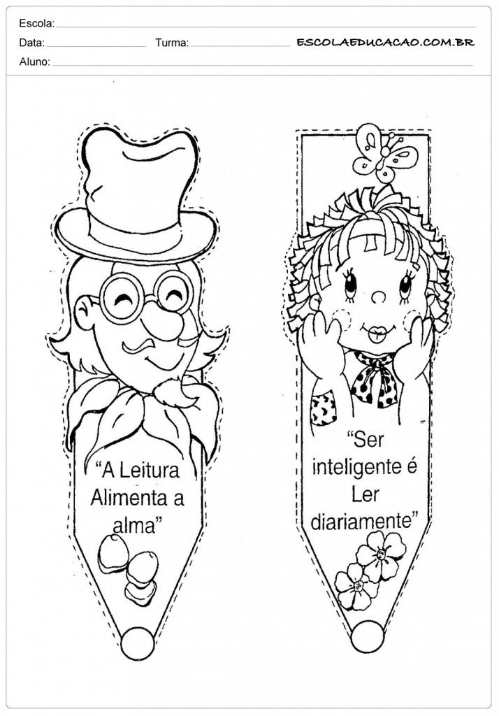 Dia do Livro - Monteiro Lobato - Marca Páginas
