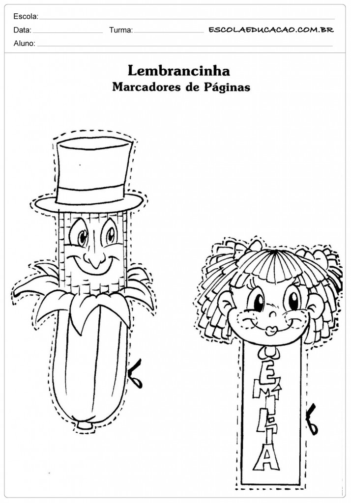 Dia do Livro - Monteiro Lobato - Marcador de Páginas