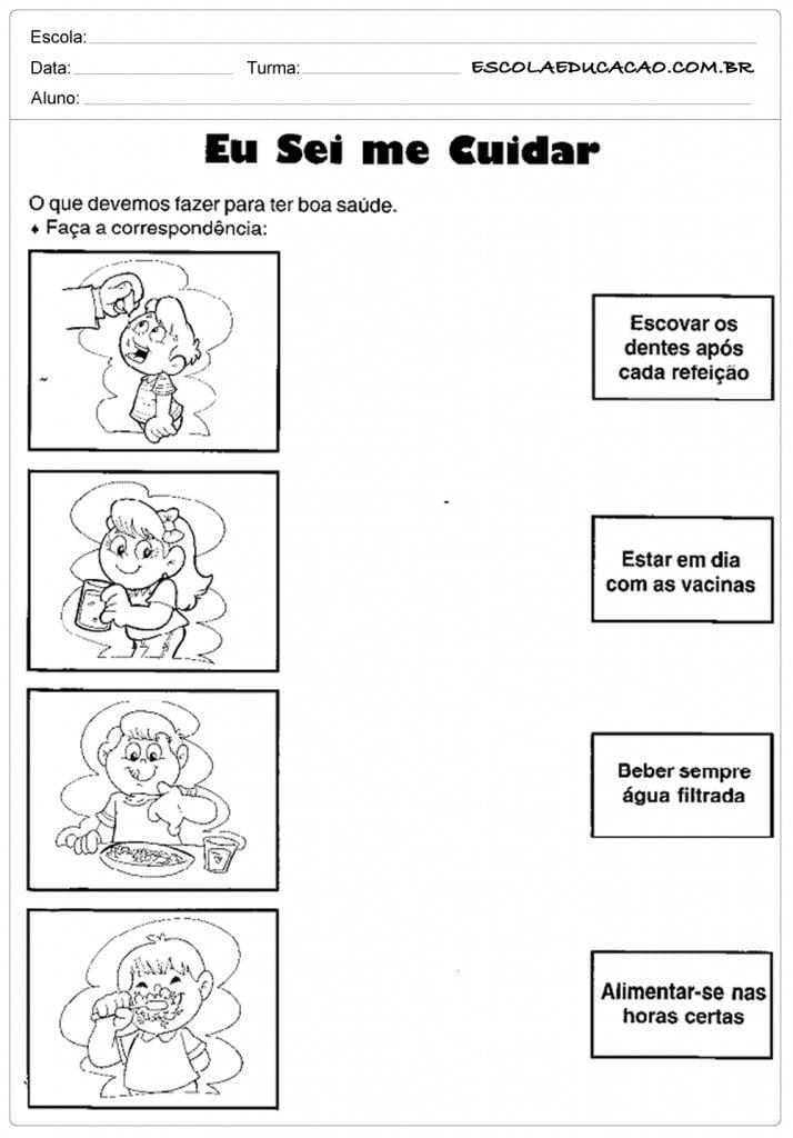 Top Atividades Dia Mundial da Saúde - Para Imprimir - Educação UZ76