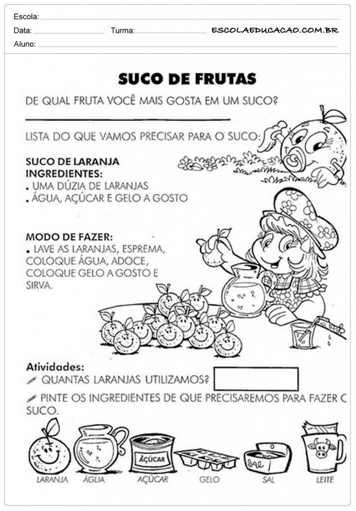 Dia Mundial da Saúde - Suco de Frutas