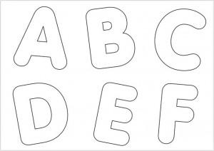 molde de letras para imprimir modelo de letras