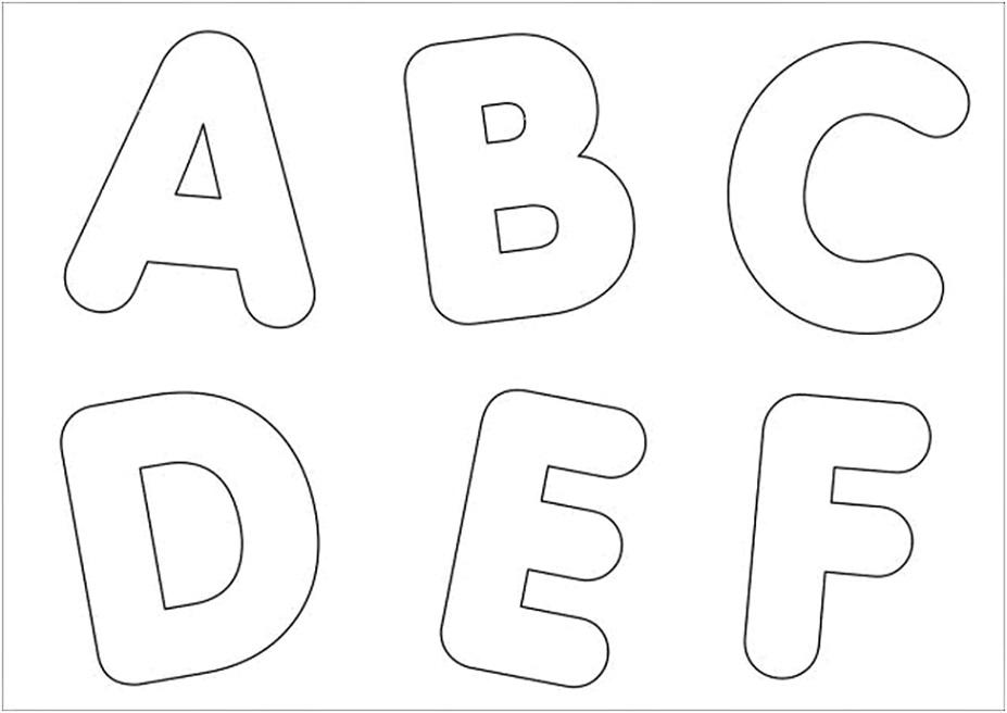 molde de letras - a  b  c  d  e  f