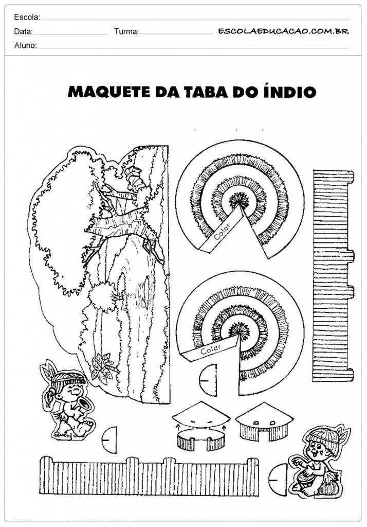 Maquete de Taba de Índio