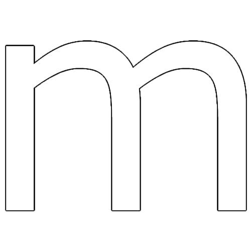 Letra m animada para colorear - 18.8KB