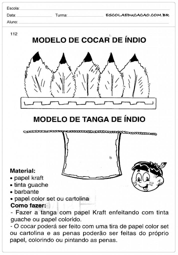 Molde de Cocar de Indio - Cocar e Tanga de Índio
