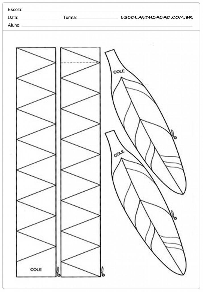 Molde de Cocar de Indio - Monte seu Cocar