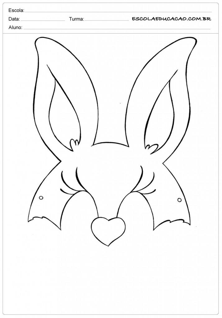 moldes de orelhas de coelhos para páscoa para imprimir