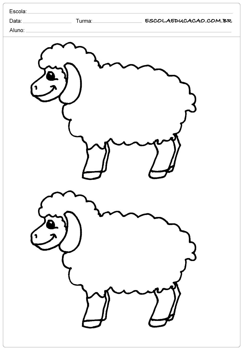 2 ovelhas felizes