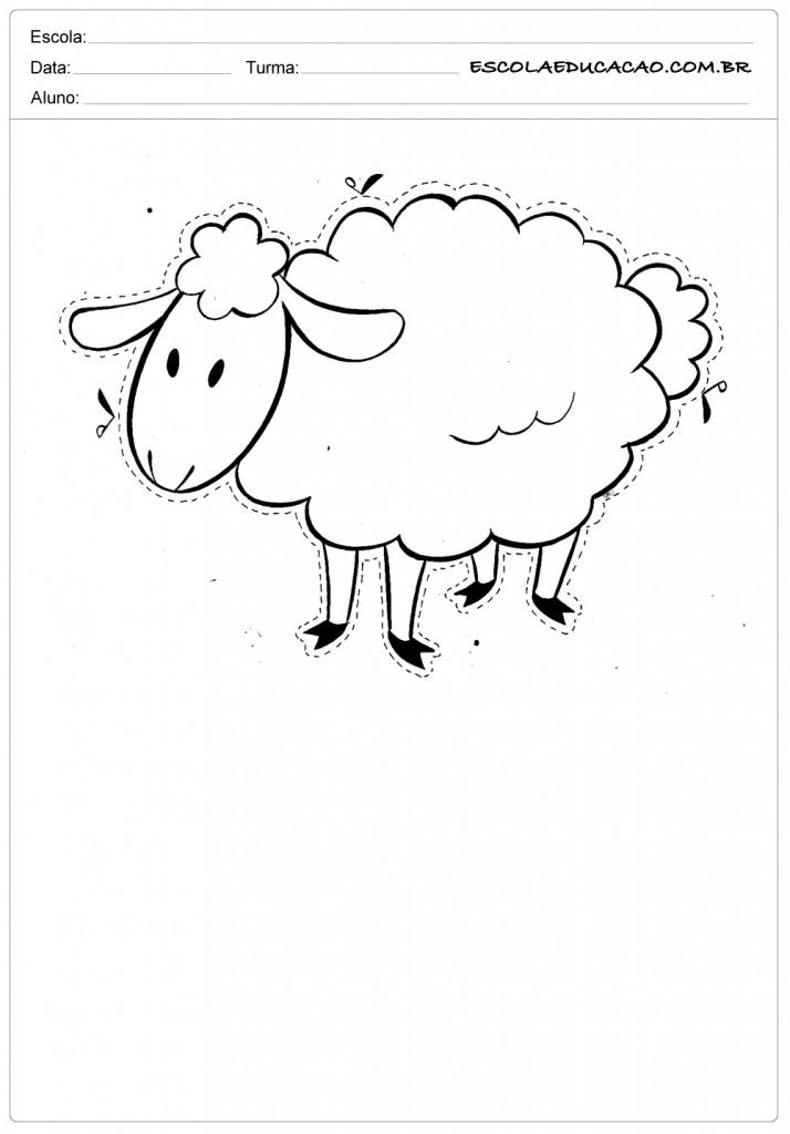 ovelha para recortar