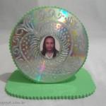 Porta retrato com CD e EVA