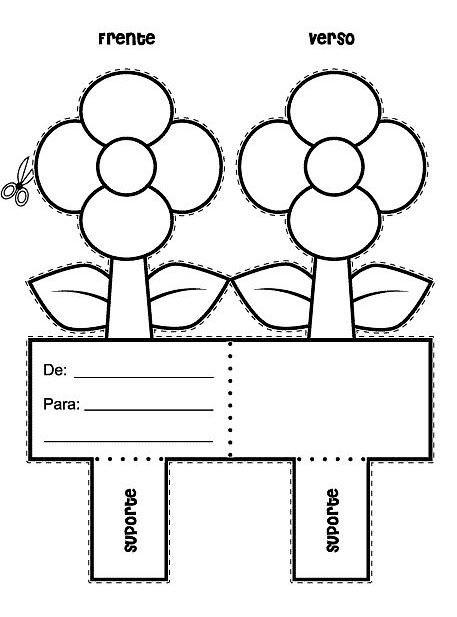 Cartão com flor para dia das mães