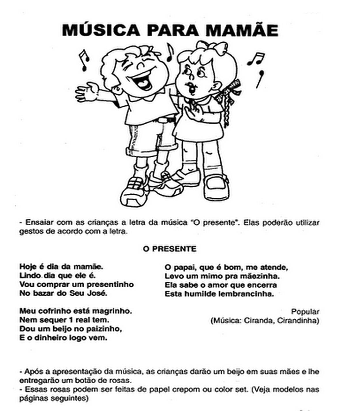 Top Música para mamãe - Escola Educação AJ14