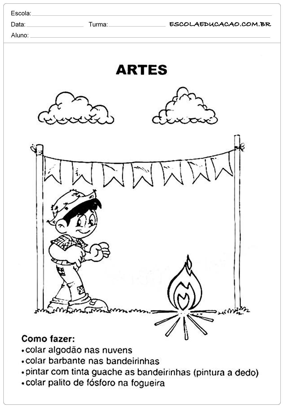 Atividades Festa Junina para Educação Infantil – Artes