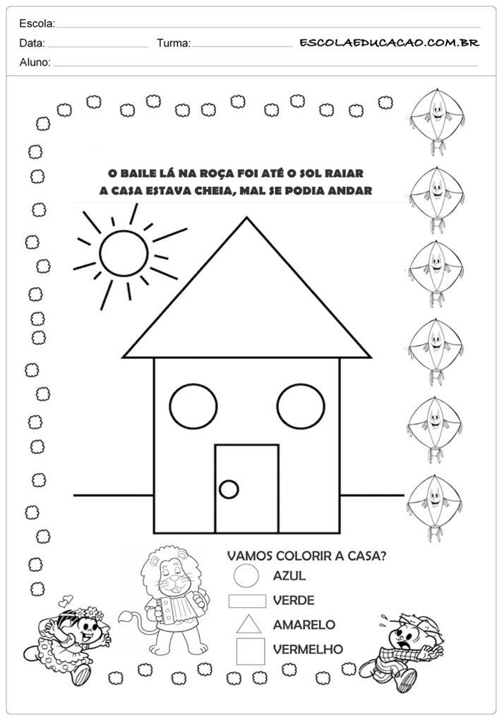 Atividades Festa Junina para Educação Infantil - Baile na roça
