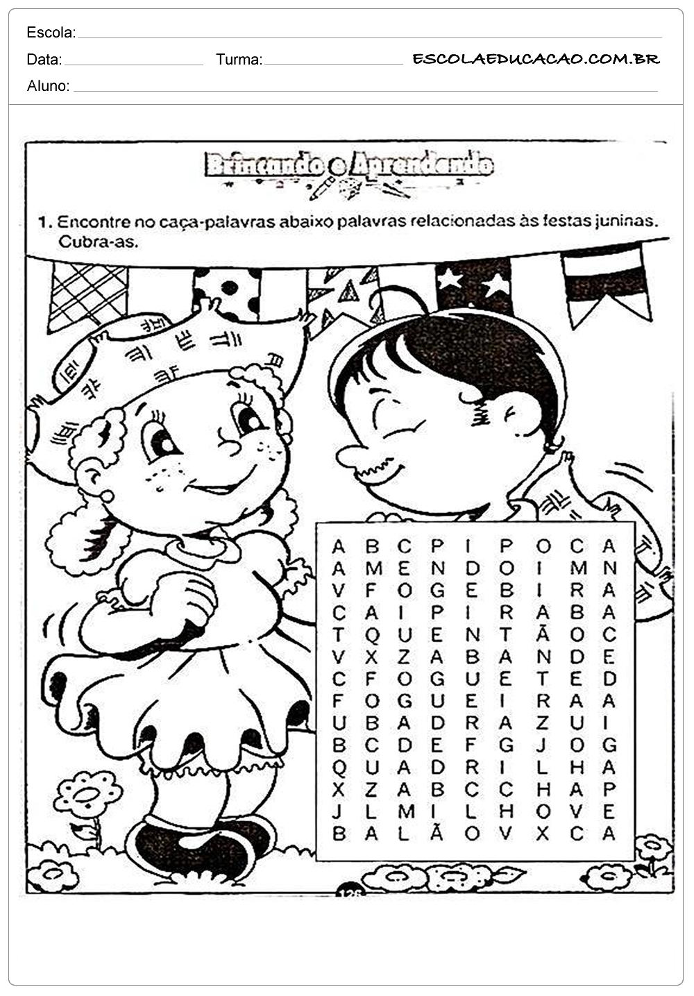 Atividades Festa Junina para Educação Infantil – Brincando e aprendendo