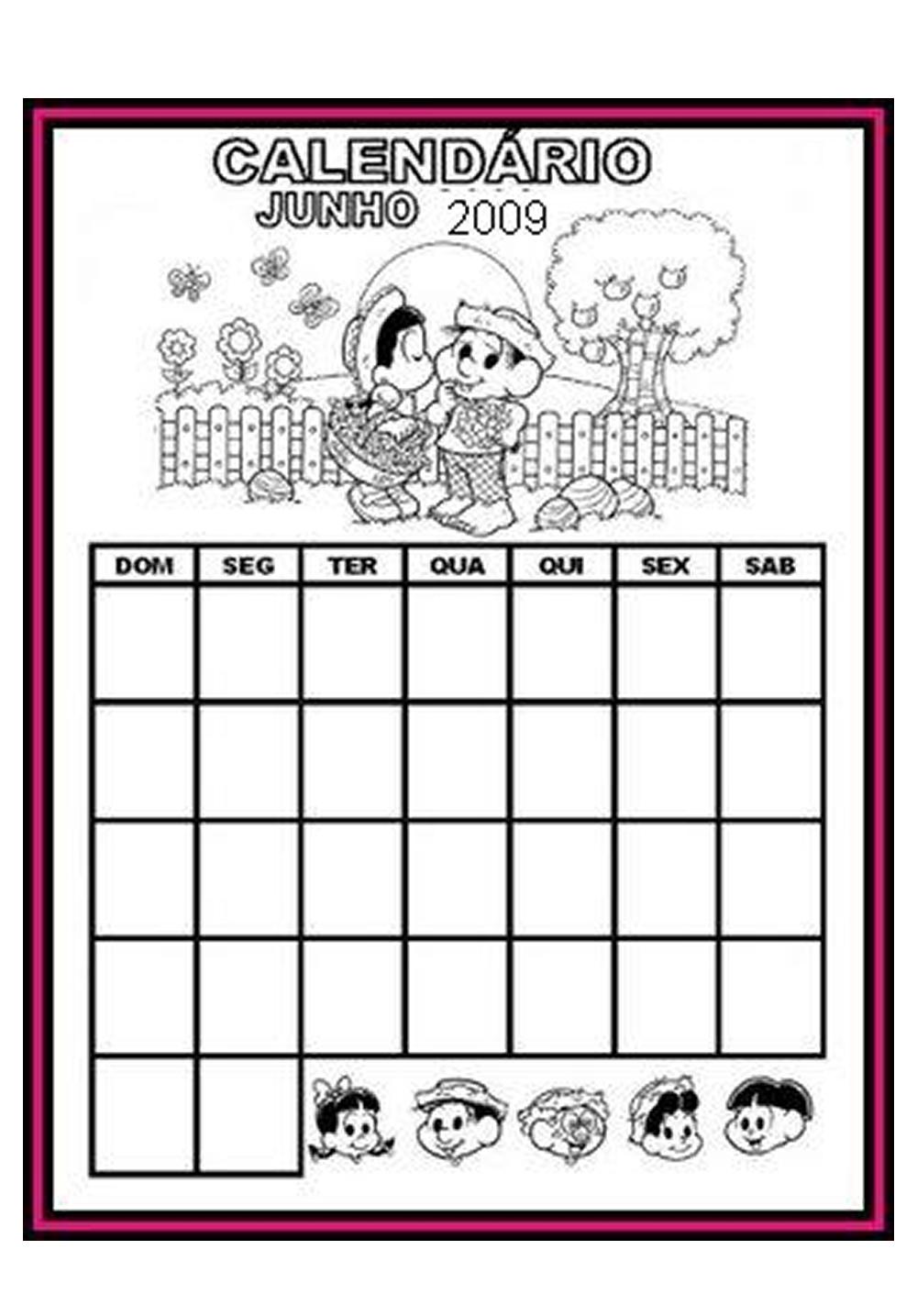Atividades Festa Junina Educação para Educação Infantil – Calendário de Festa Junina