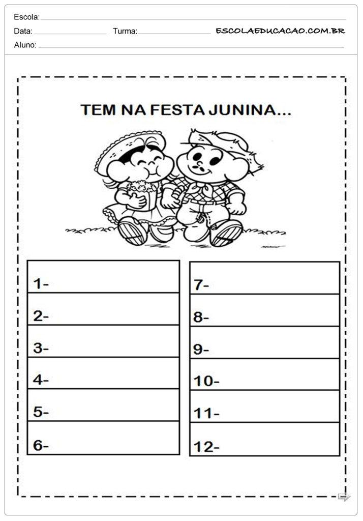 Atividades Festa Junina para Educação Infantil - O que tem na festa junina