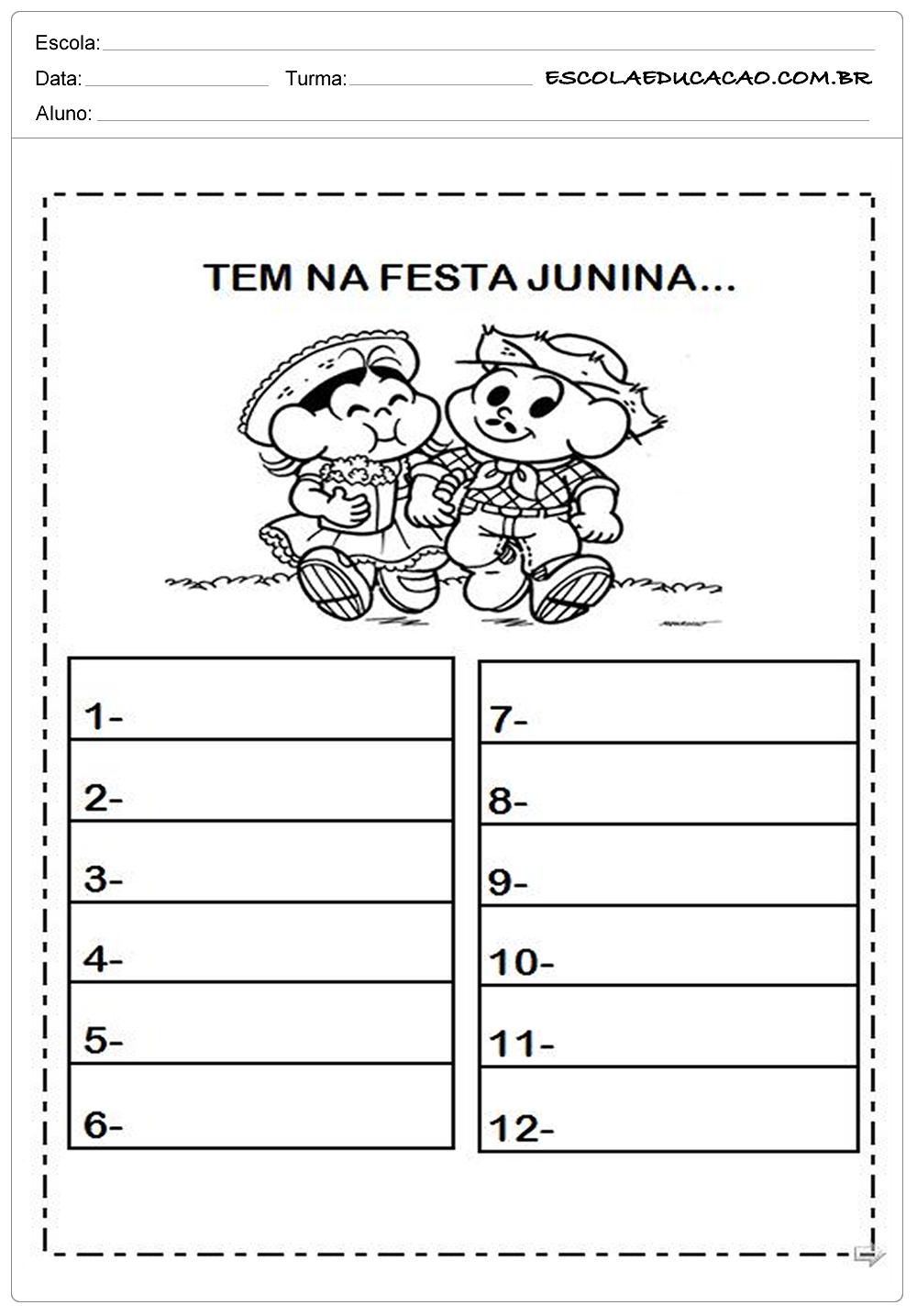 Atividades Festa Junina para Educação Infantil – O que tem na festa junina