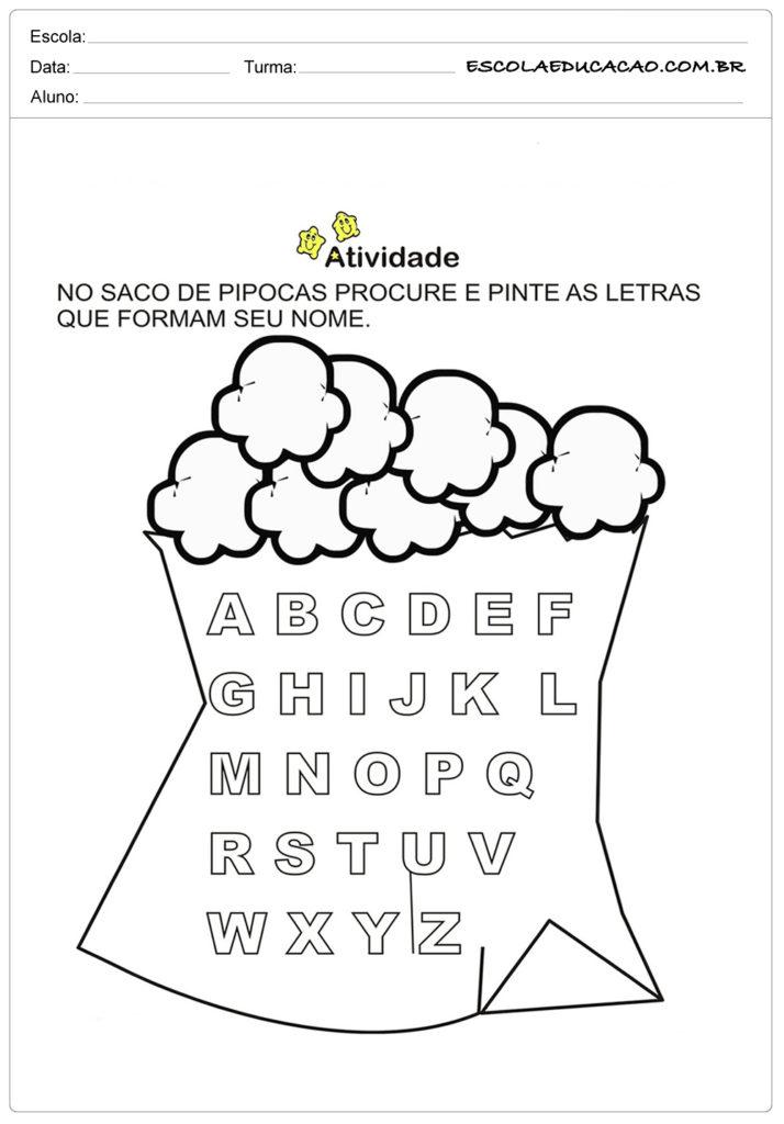 Atividades Festa Junina para Educação Infantil - Saco de pipoca