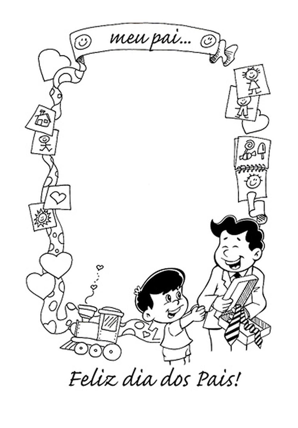 Desenho Dia Dos Pais Para Colorir Melhor Pai Do Mundo Escola