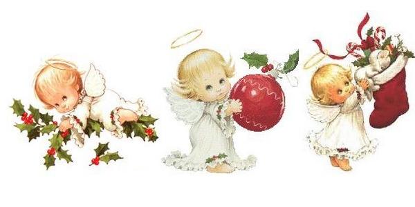 Anjo de Natal para Colorir