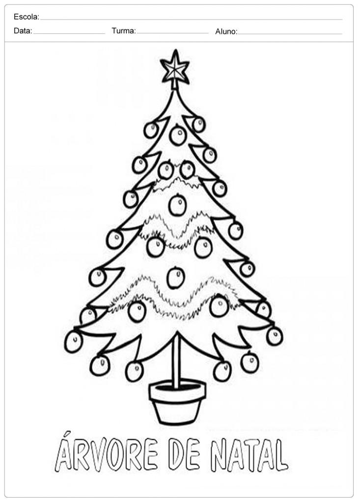 Árvores de Natal para Colorir - Árvore de Natal