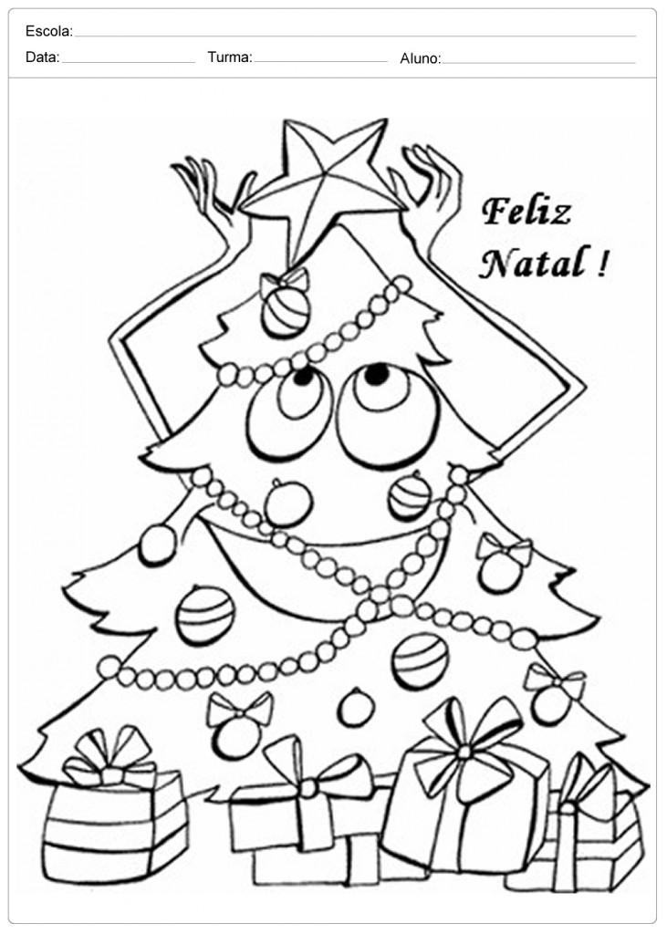arvores-de-natal-para-colorir-feliz-natal