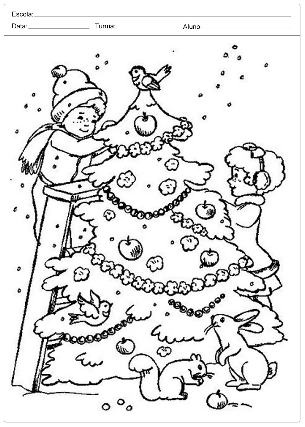 árvores De Natal Para Colorir Para Colorir Bem Bonito Escola