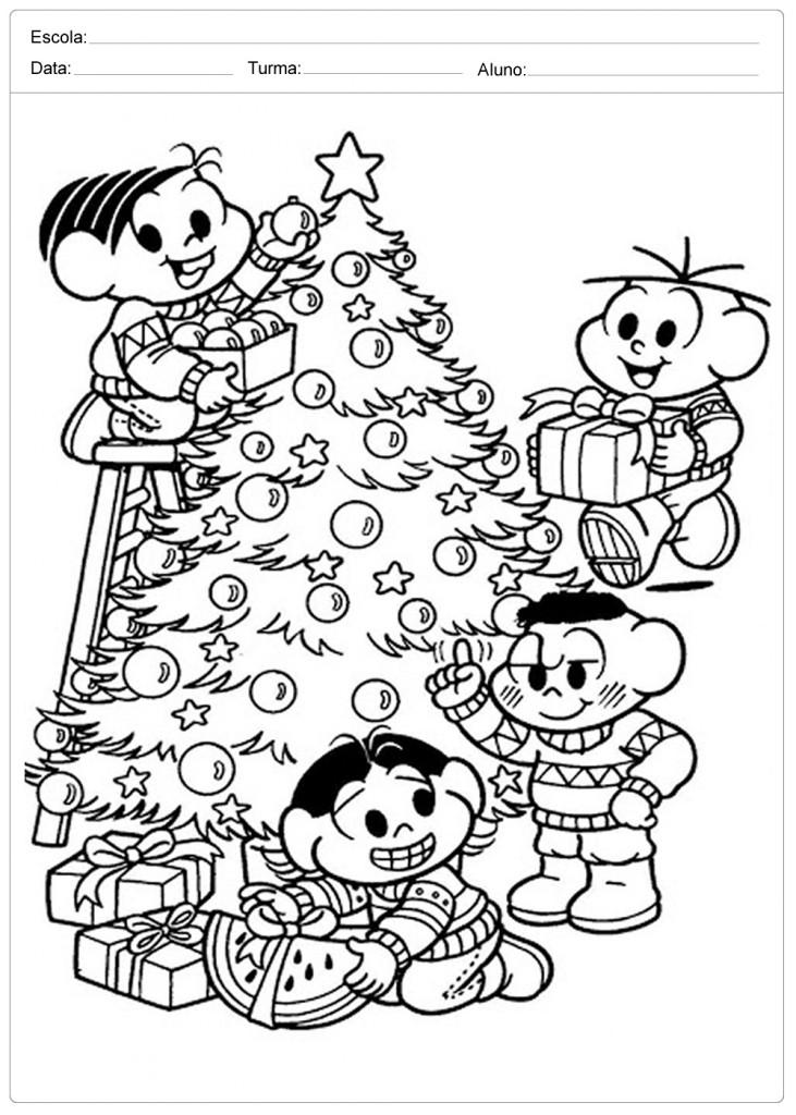 Árvores de Natal para Colorir - Pinte bem Bonito