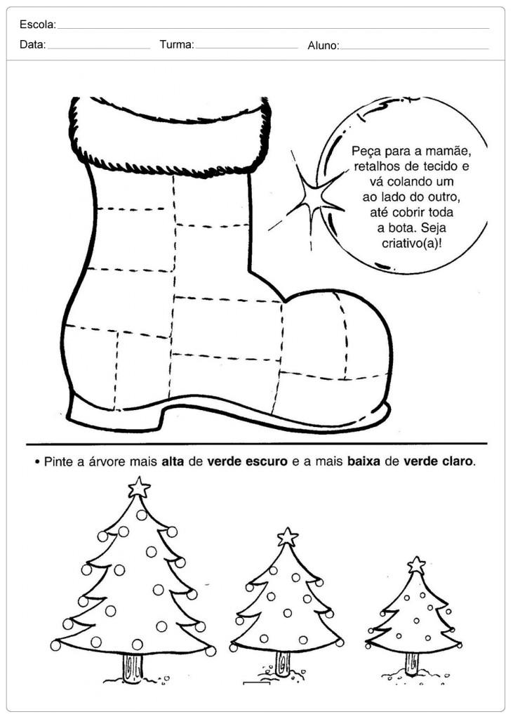 Atividades Escolares de Natal - Bota Criativa