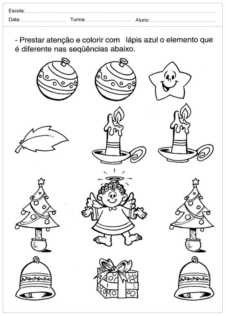 Atividades Escolares de Natal - Elemento Diferente