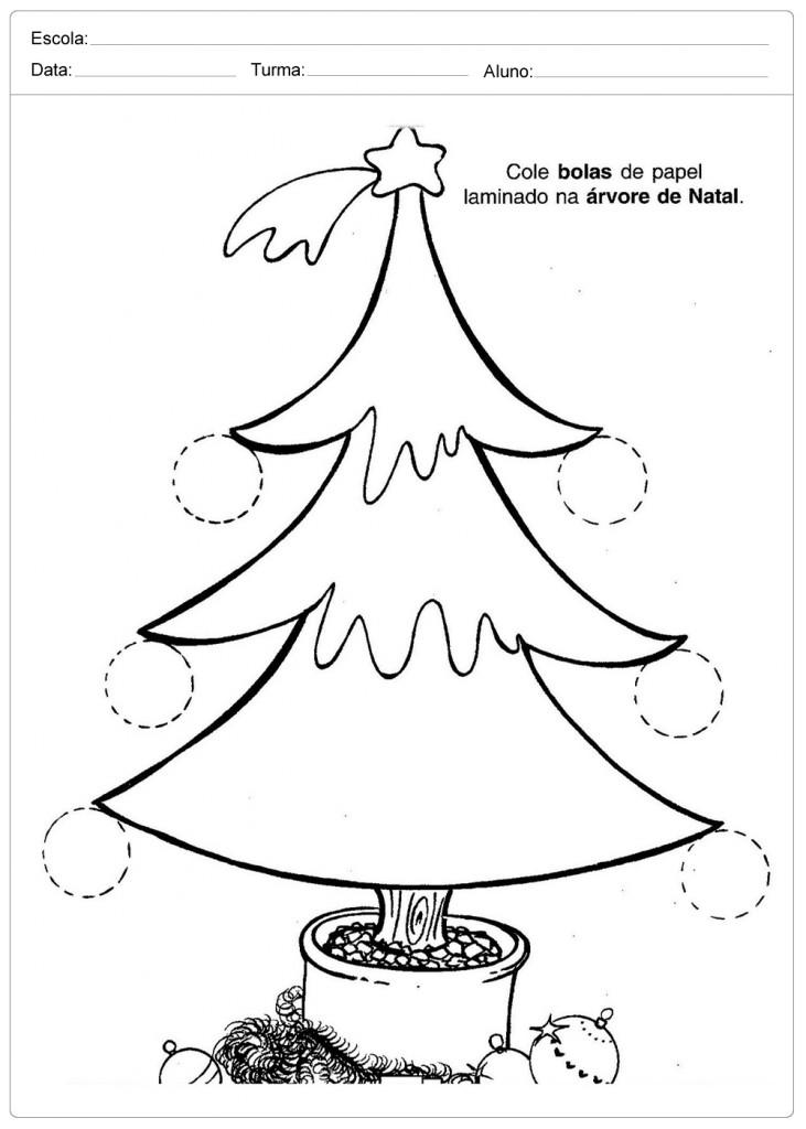 Atividades Escolares de Natal - Árvore de Natal