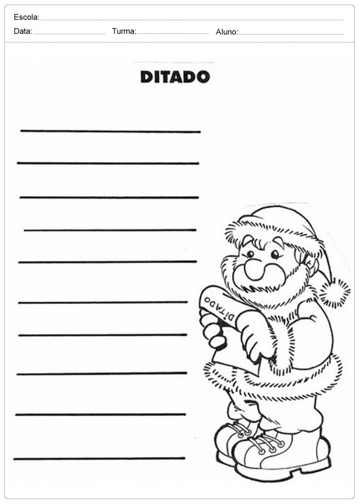 Atividades Escolares de Natal - Ditado