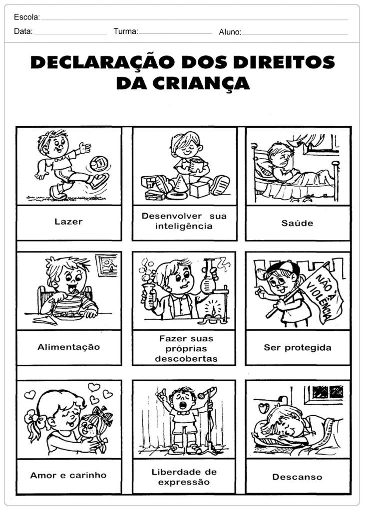Super Atividades Direito das Crianças - Para Imprimir - Escola RM61
