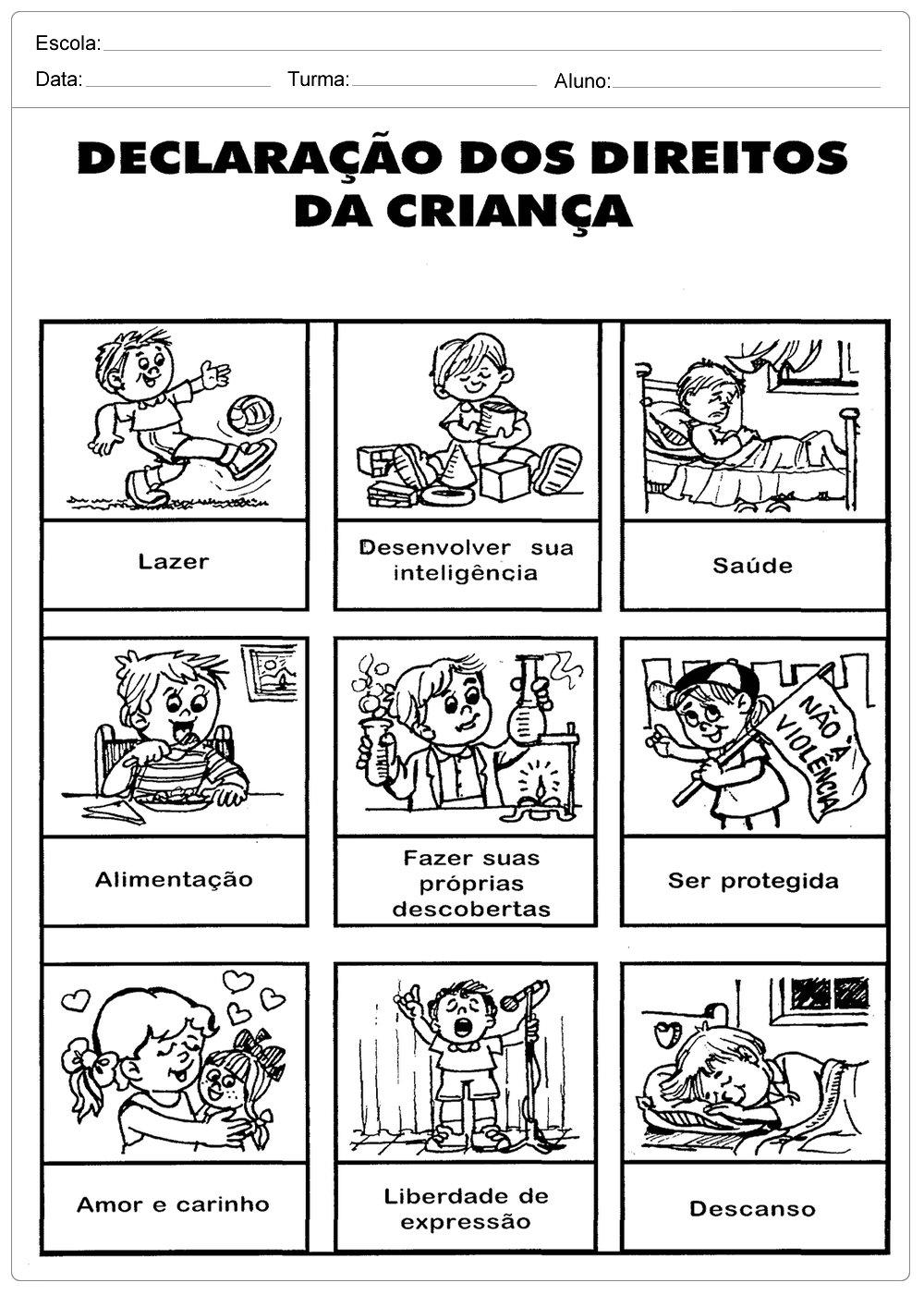 Top Declaração dos Direitos da Crianças - Escola Educação XC44