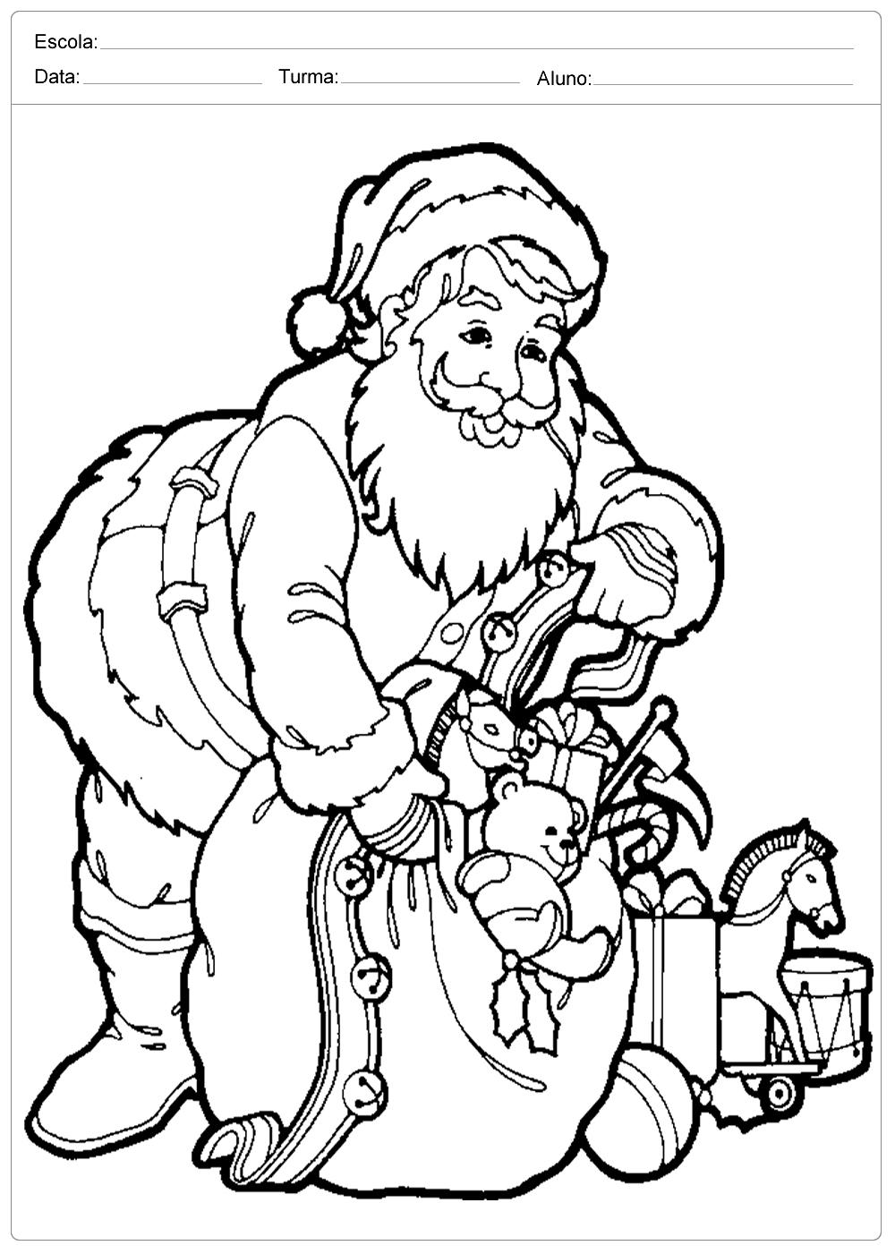 Desenhos de Natal para Colorir – Papai Noel