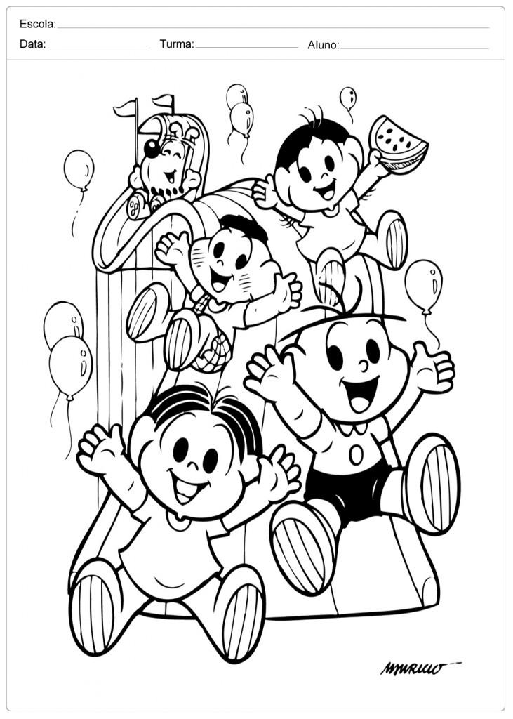 Dia das Crianças - Colorir - Turma da Mônica