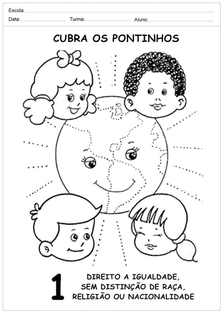 Top Atividades Direito das Crianças - Para Imprimir - Escola WY73