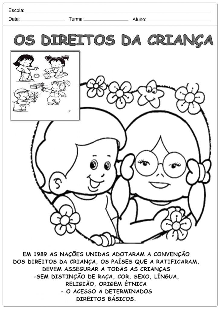 Preferência Atividades Direito das Crianças - Para Imprimir - Escola EN99