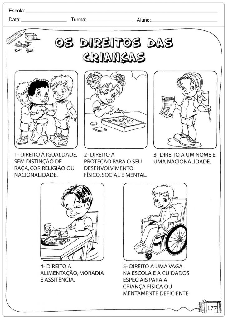 Suficiente Atividades Direito das Crianças - Para Imprimir - Escola JX26