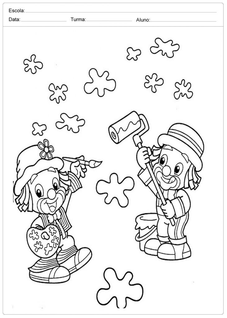 Colorir Patati e Patata - Dia das Crianças