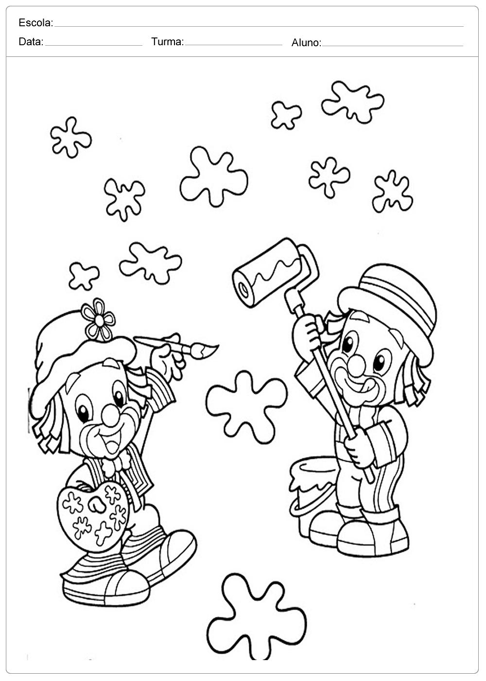 Colorir Patati E Patata Dia Das Criancas Escola Educacao